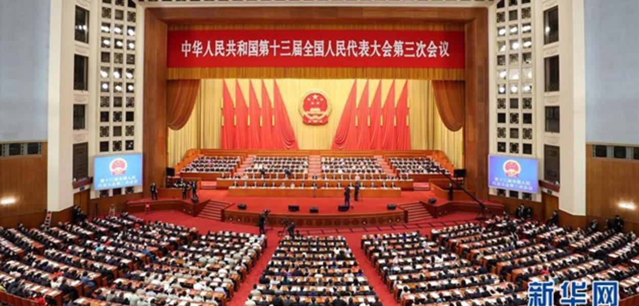 Assembleia Nacional da China (parlamento) aprova nova legislação de segurança para Hong Kong