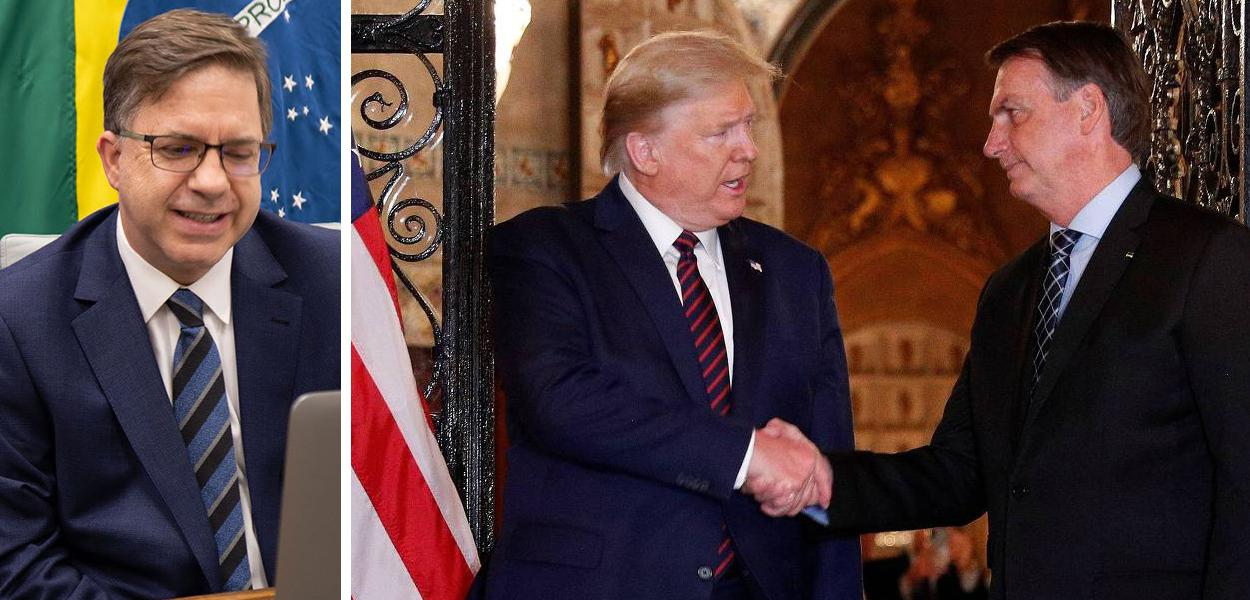 Todd Chapman, Donald Trump e Jair Bolsonaro