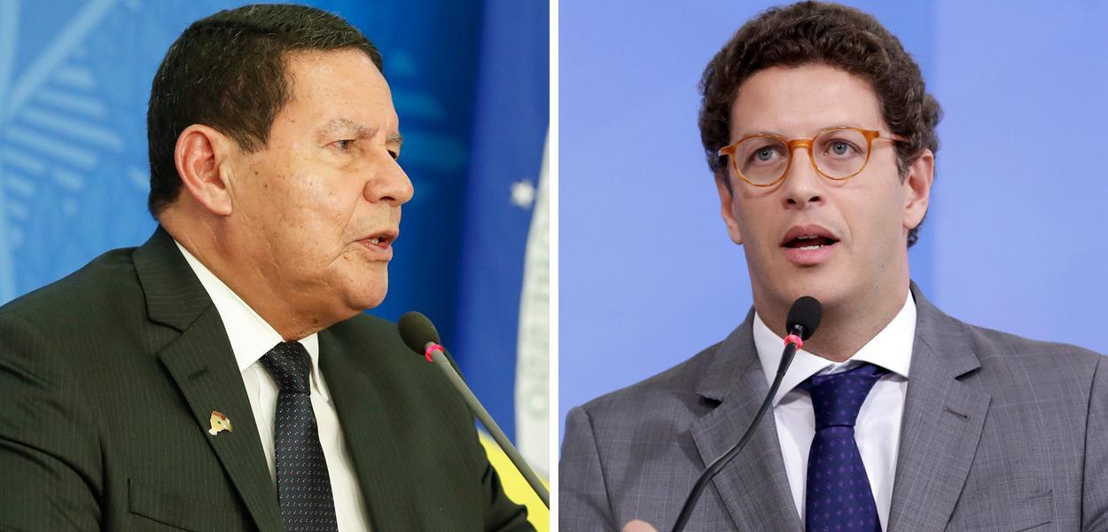Hamilton Mourão e Ricardo Salles