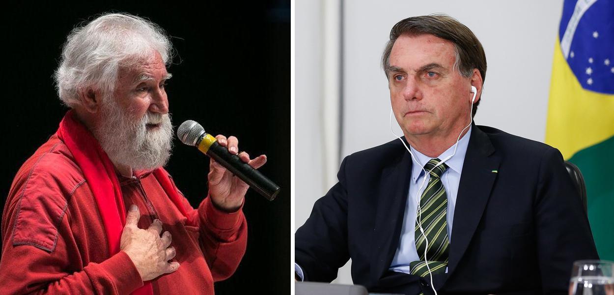 Leonardo Boff e Jair Bolsonaro