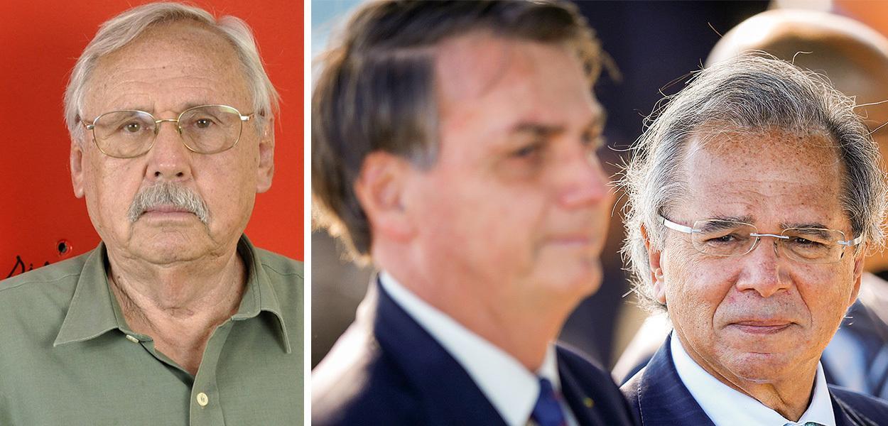 Economista Ladislau Dowbor, Bolsonaro e Paulo Guedes