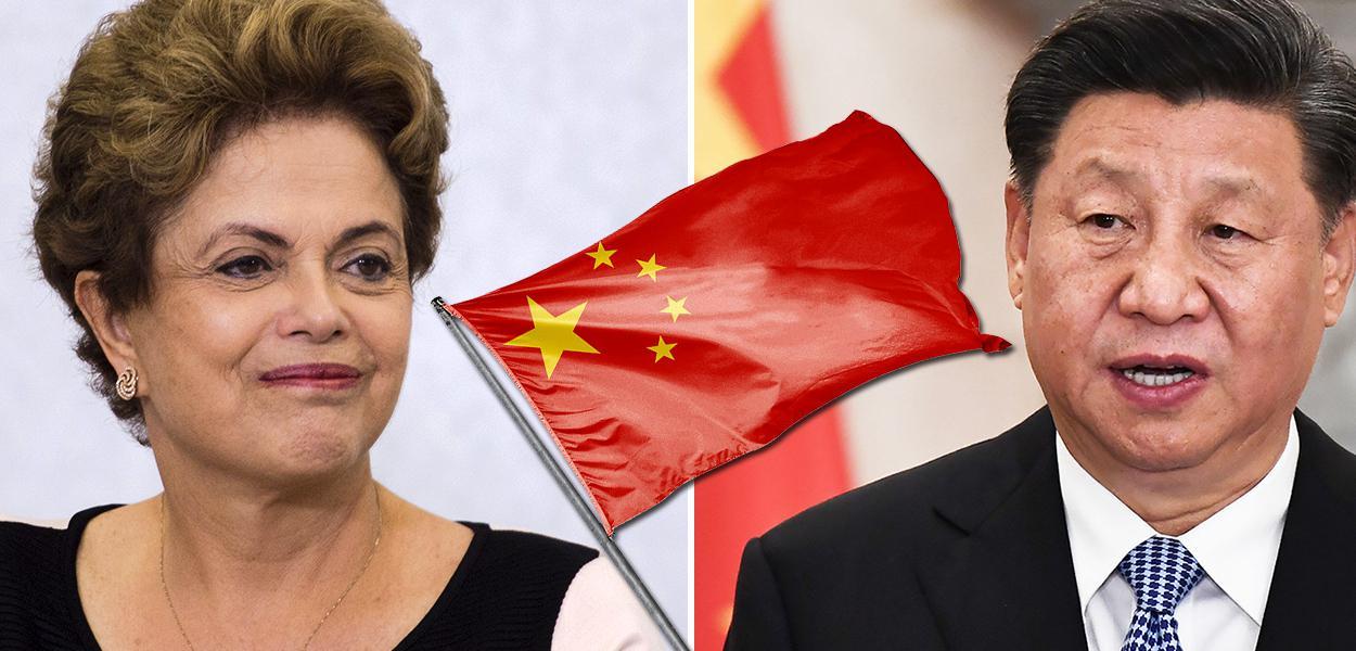 Dilma Rousseff e o chinês Xi Jinping