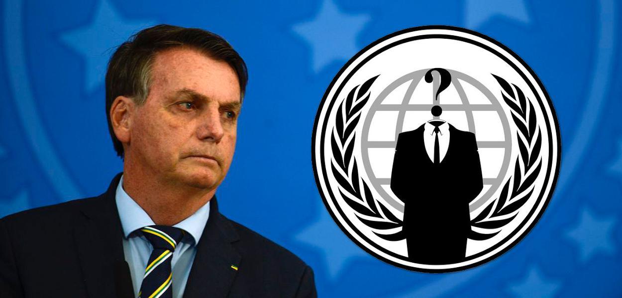 Jair Bolsonaro e Anonymous