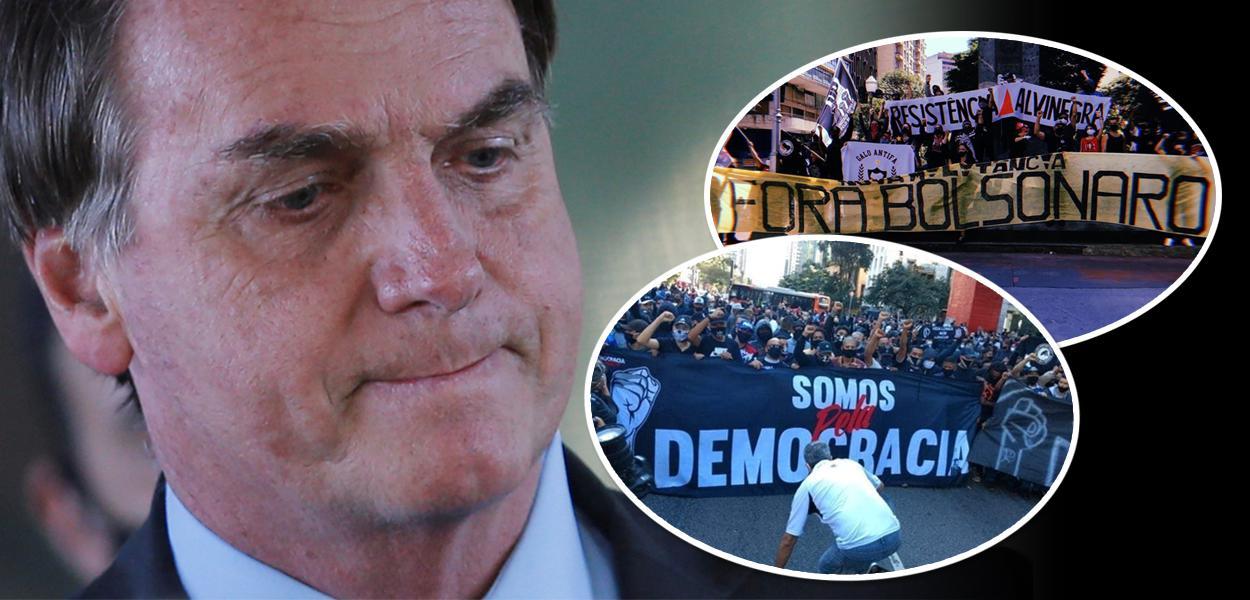 Jair Bolsonaro e manifestação de torcidas organizadas