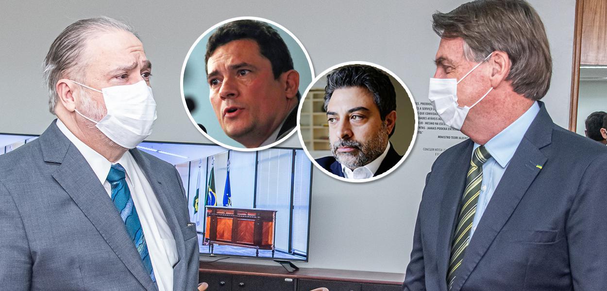 Augusto Aras, Sérgio Moro, Tacla Duran e Jair Bolsonaro