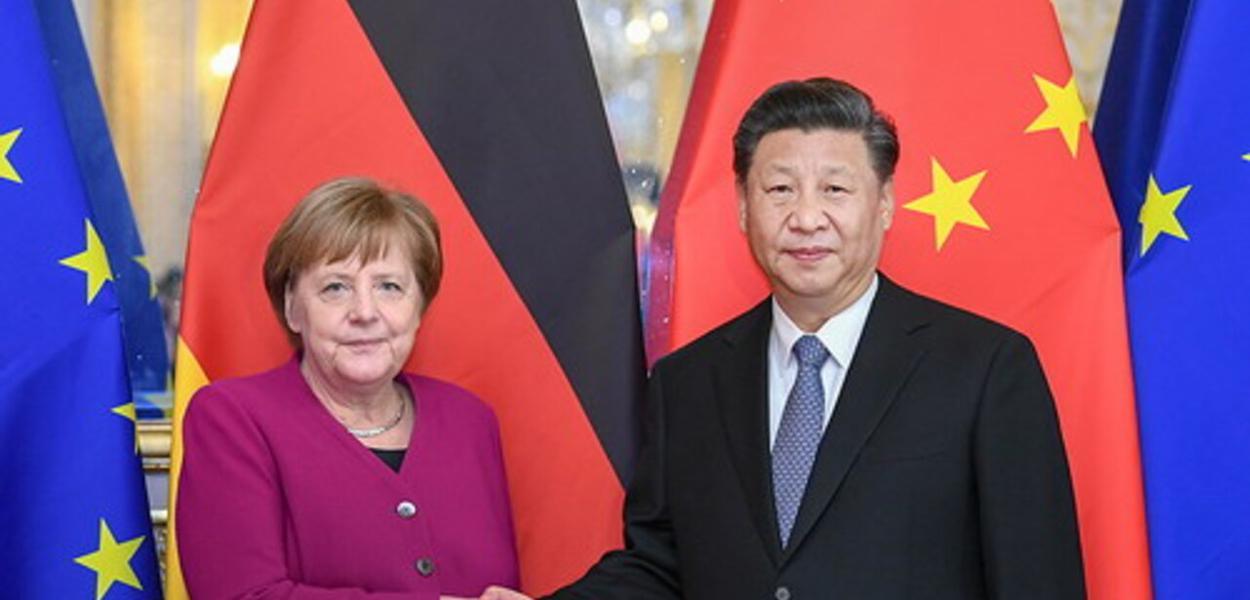 Angela Merkel e Xi Jinping
