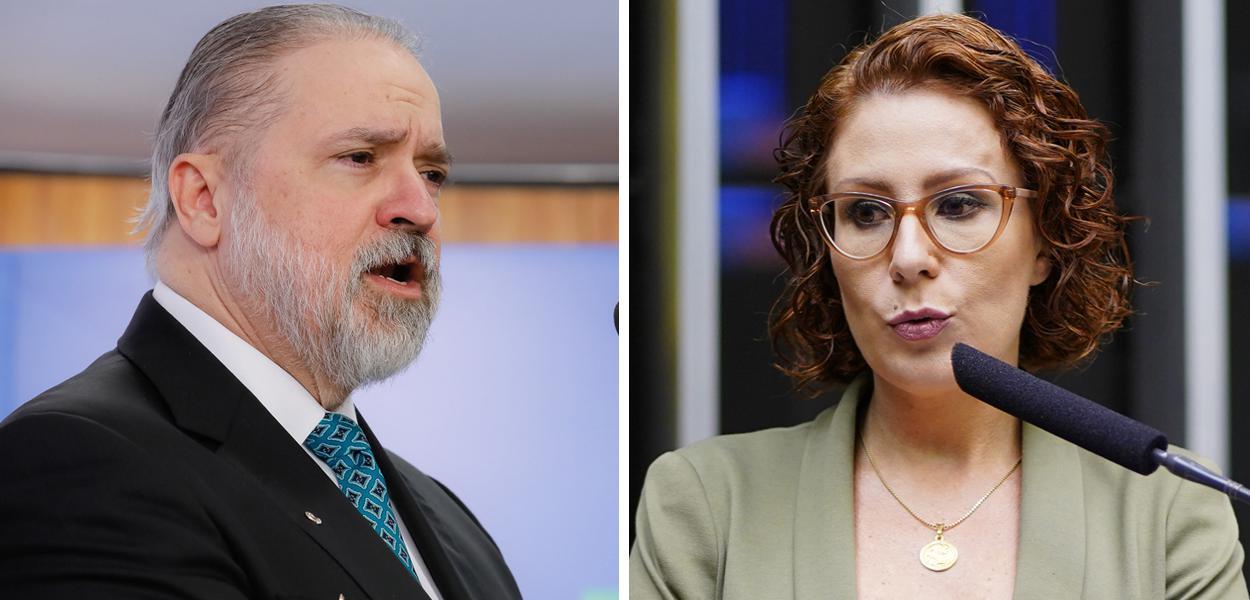 Augusto Aras e Carla Zambelli