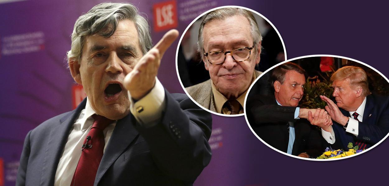 Gordon Brown, Olavo de Carvalho, Jair Bolsonaro e Donald Trump