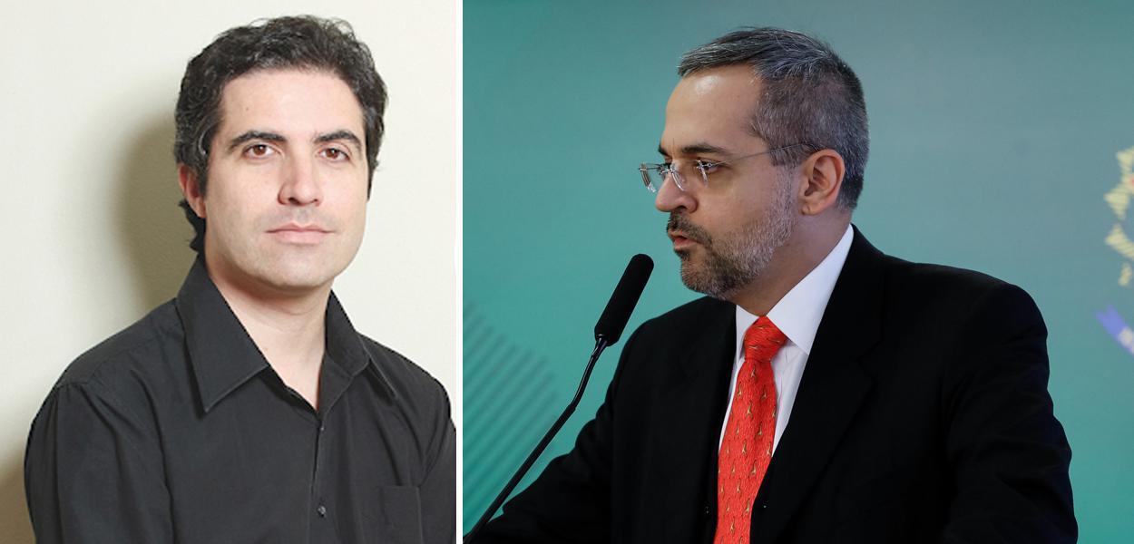 Bernardo Mello Franco e Abraham Weintraub