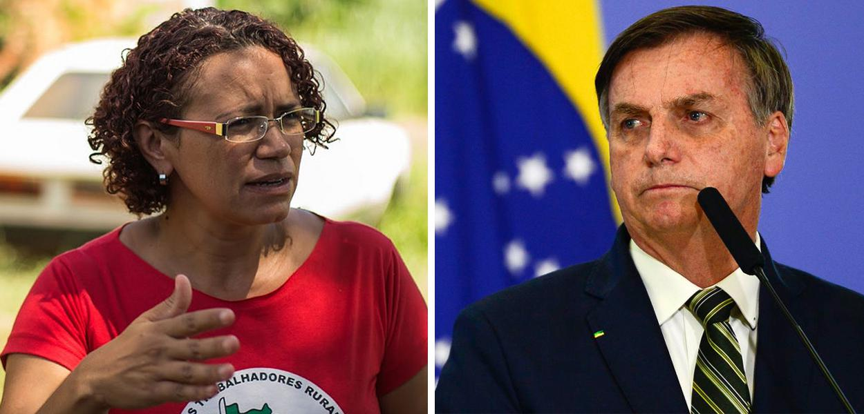 Kelli Mafort e Jair Bolsonaro