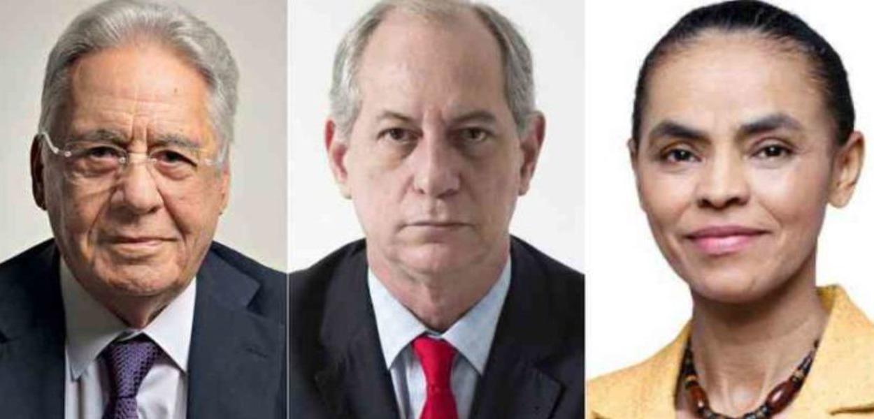 Fernando Henrique Cardoso, Ciro Gomes e Marina Silva