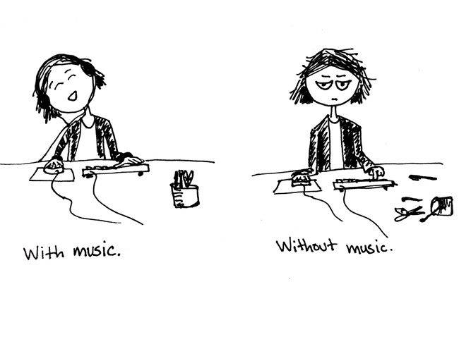 Com música, sem música