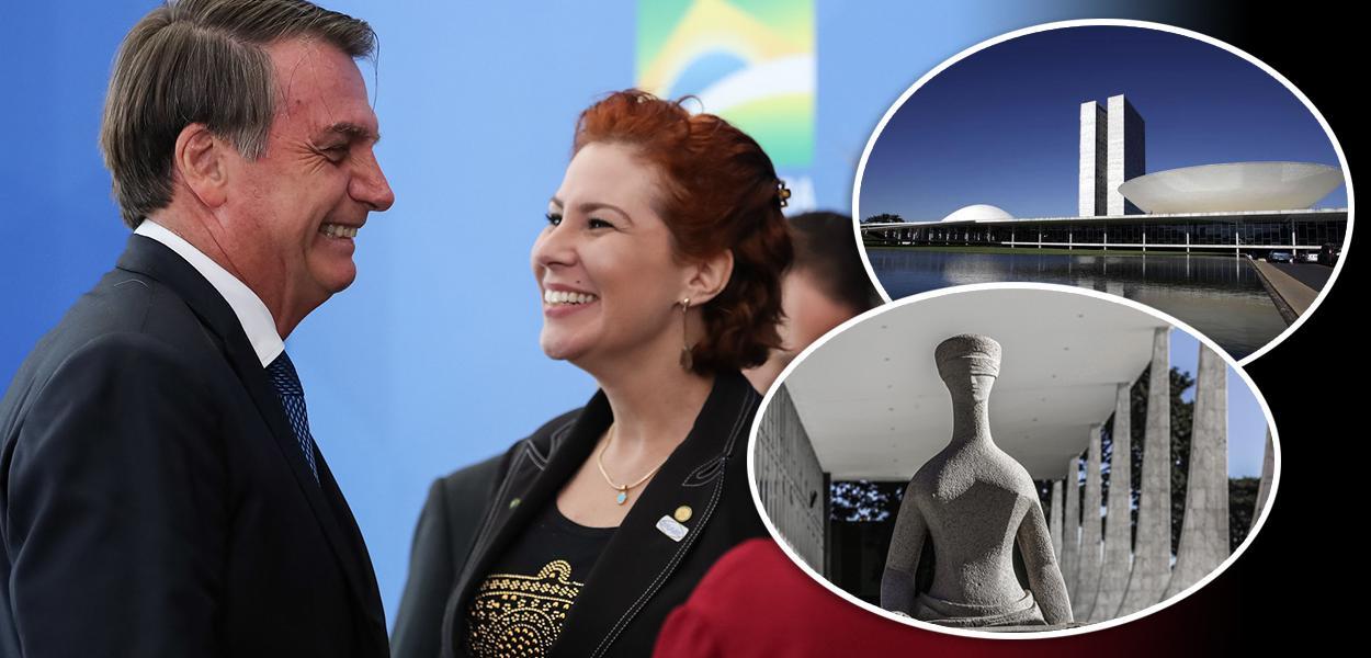 Jair Bolsonaro e Carla Zambelli