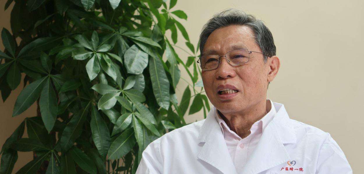 O epidemiologista chinês Zhong Nanshan