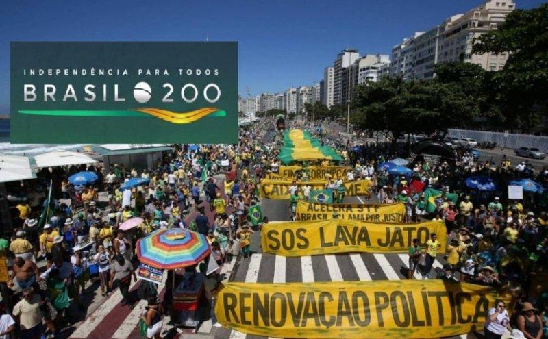 Defesa de ato de direita pelo Instituto Brasil 200.