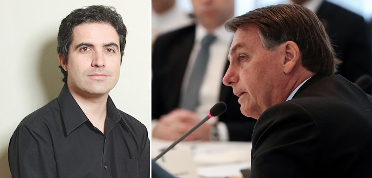 Jornalista Bernardo Mello Franco e Jair Bolsonaro
