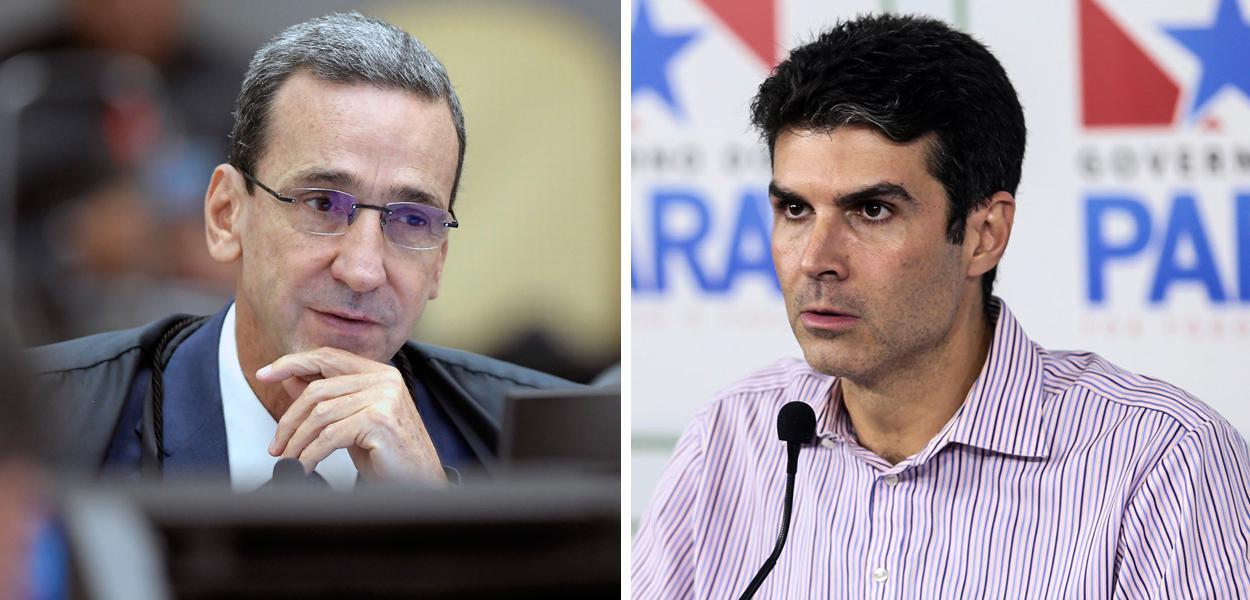 Ministro Francisco Falcão e Helder Barbalho