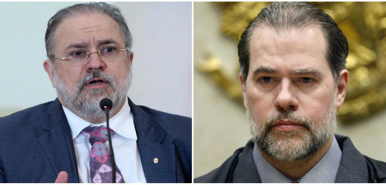 Augusto Aras e Dias Toffoli