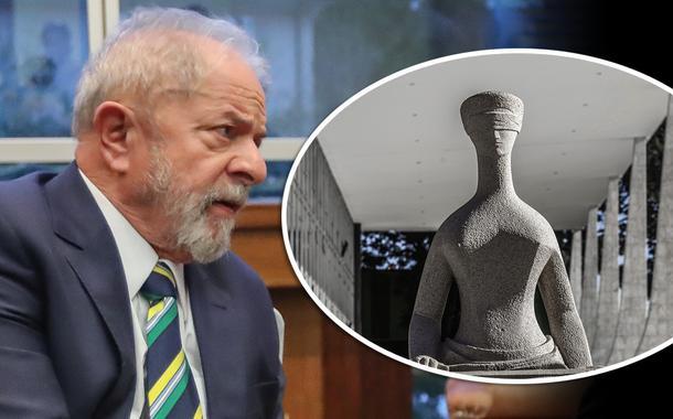 Lula e fachada do STF