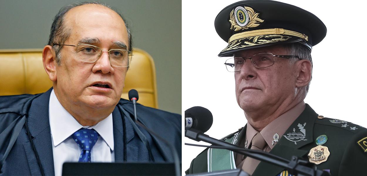 Gilmar Mendes e General Edson Leal Pujol