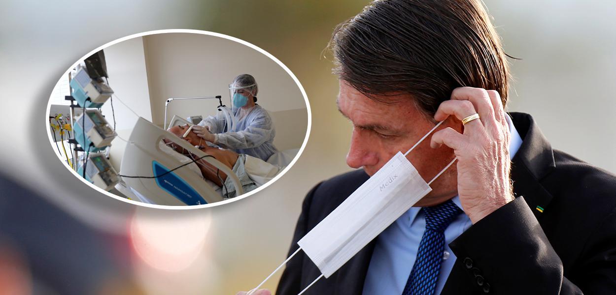 Paciente com coronavírus em hospital em São Paulo e Jair Bolsonaro
