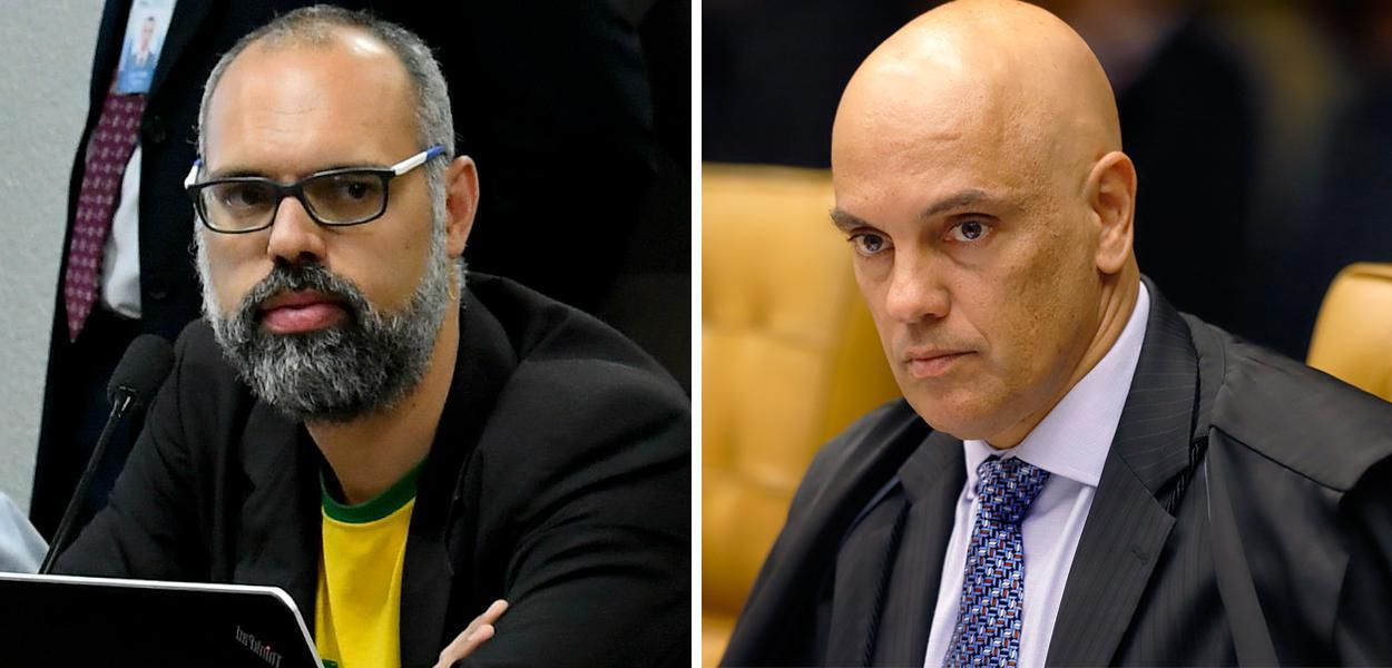 Allan dos Santos e Alexandre de Moraes