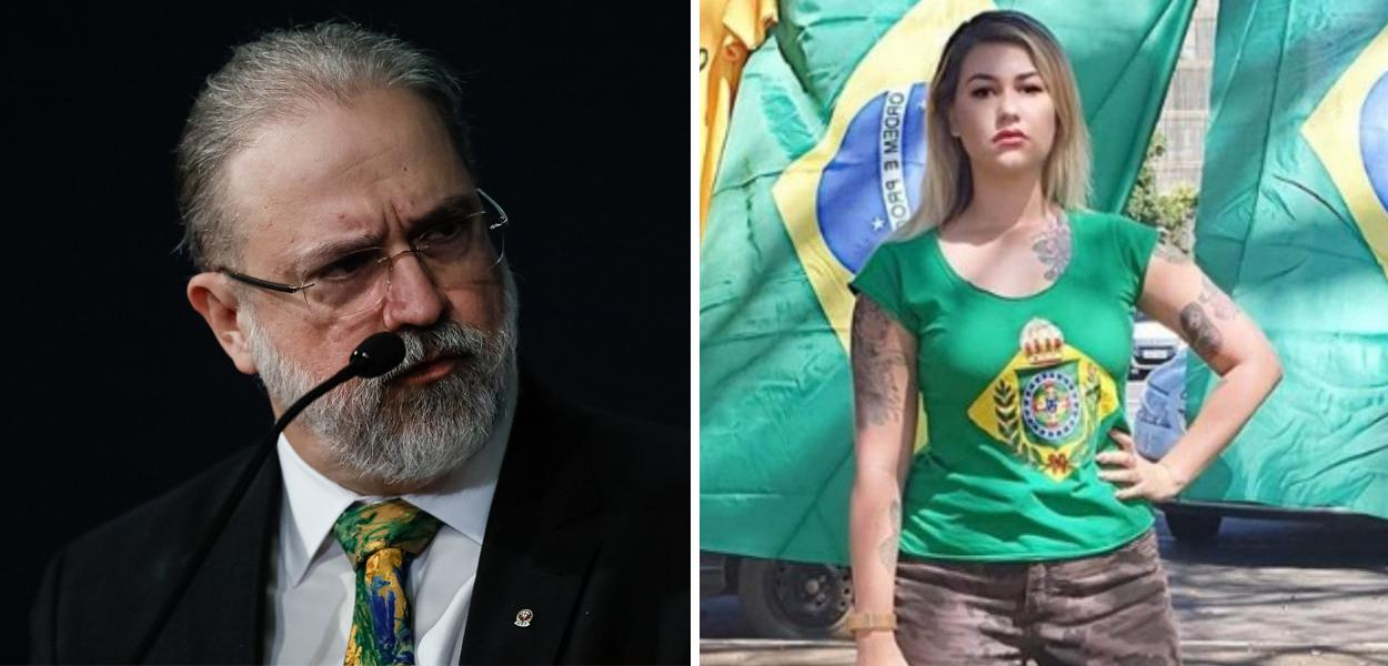 Augusto Aras e Sara Winter