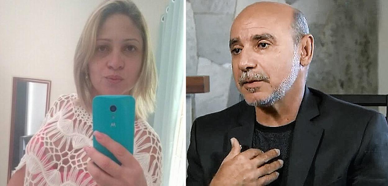 Márcia Olveira de Aguia e Fabrício Queiroz