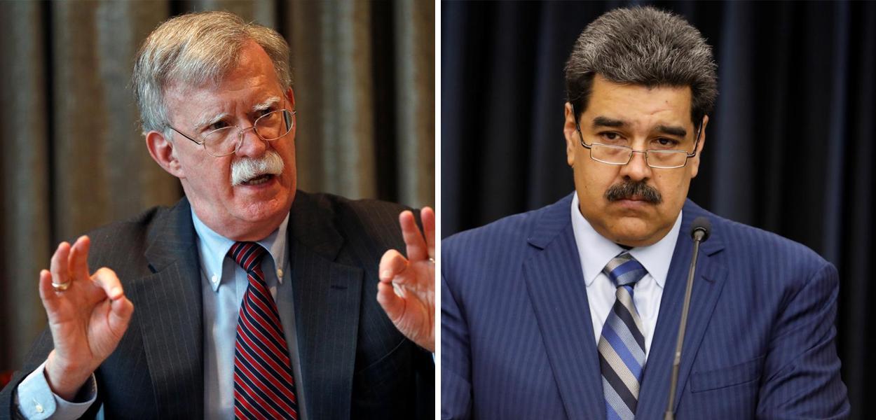 John Bolton e Nicolás Maduro