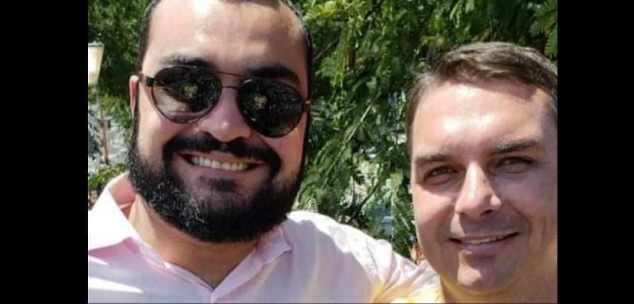 Luís Gustavo Botto Maia e Flávio Bolsonaro