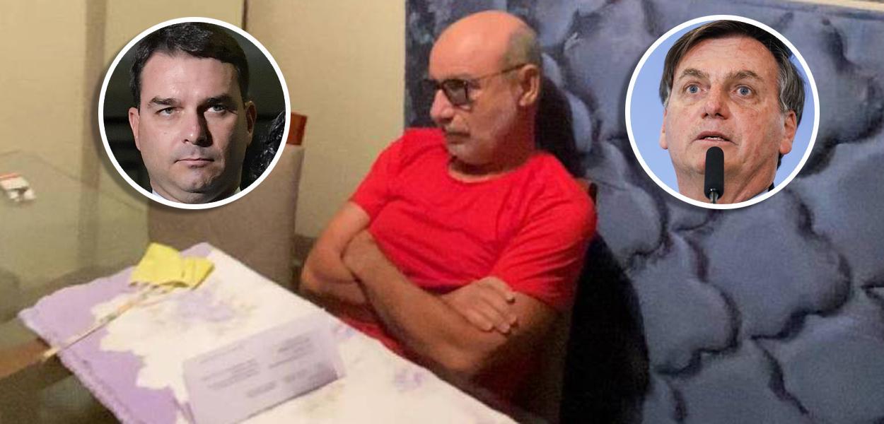 Flávio Bolsonaro, Fabrício Queiroz e Jair Bolsonaro