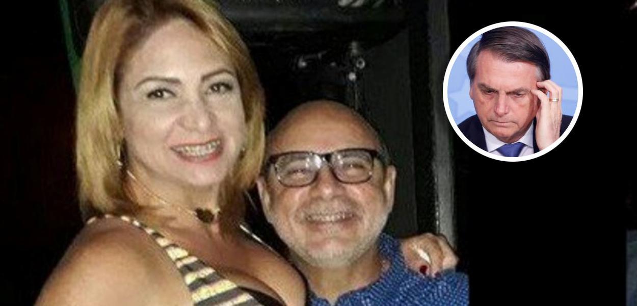 Márcia Oliveira de Aguiar, Fabrício Queiroz e Jair Bolsonaro