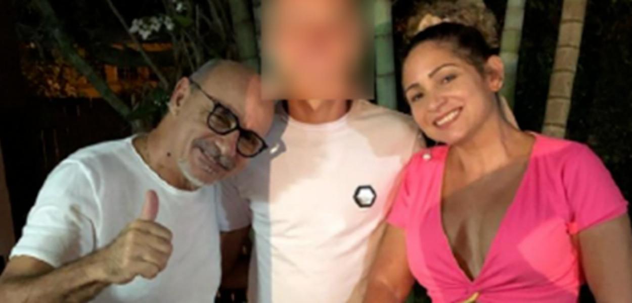 Fabrício Queiroz e Márcia Oliveira de Aguiar