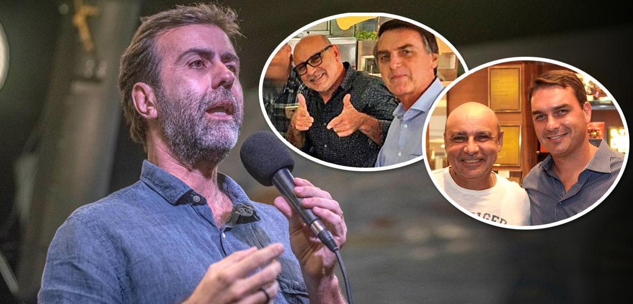 Marcelo Freixo; Queiroz com Flávio Bolsonaro e Queiroz com Jair Bolsonaro