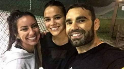 Nathalia Queiroz, Bruna Marquezine e Chico Salgado