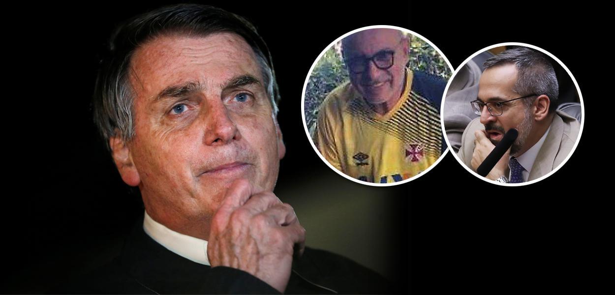 Jair Bolsonaro, Fabrício Queiroz e Abraham Weintraub