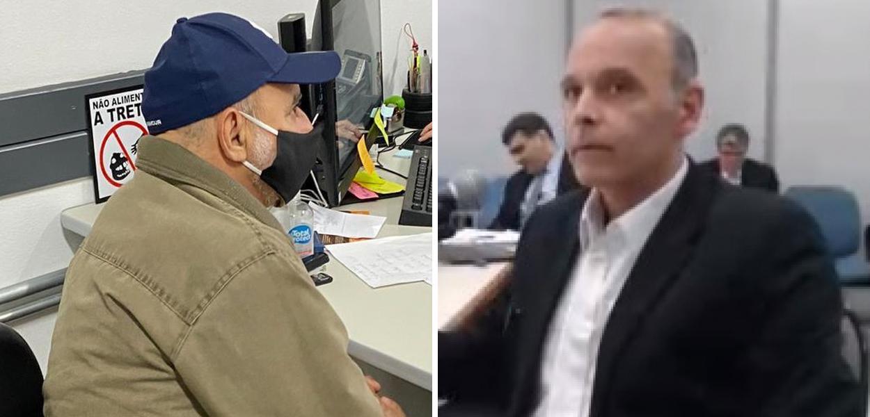 Fabrício Queiroz e Wilson Carlos