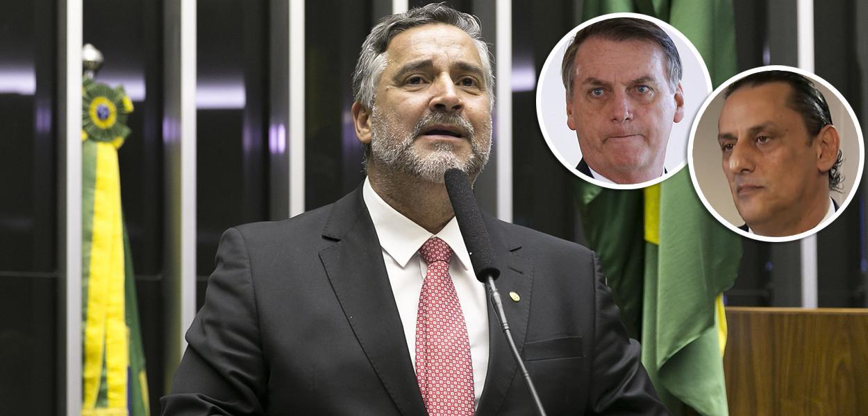 Paulo Pimenta, Jair Bolsonaro e Frederick Wassef