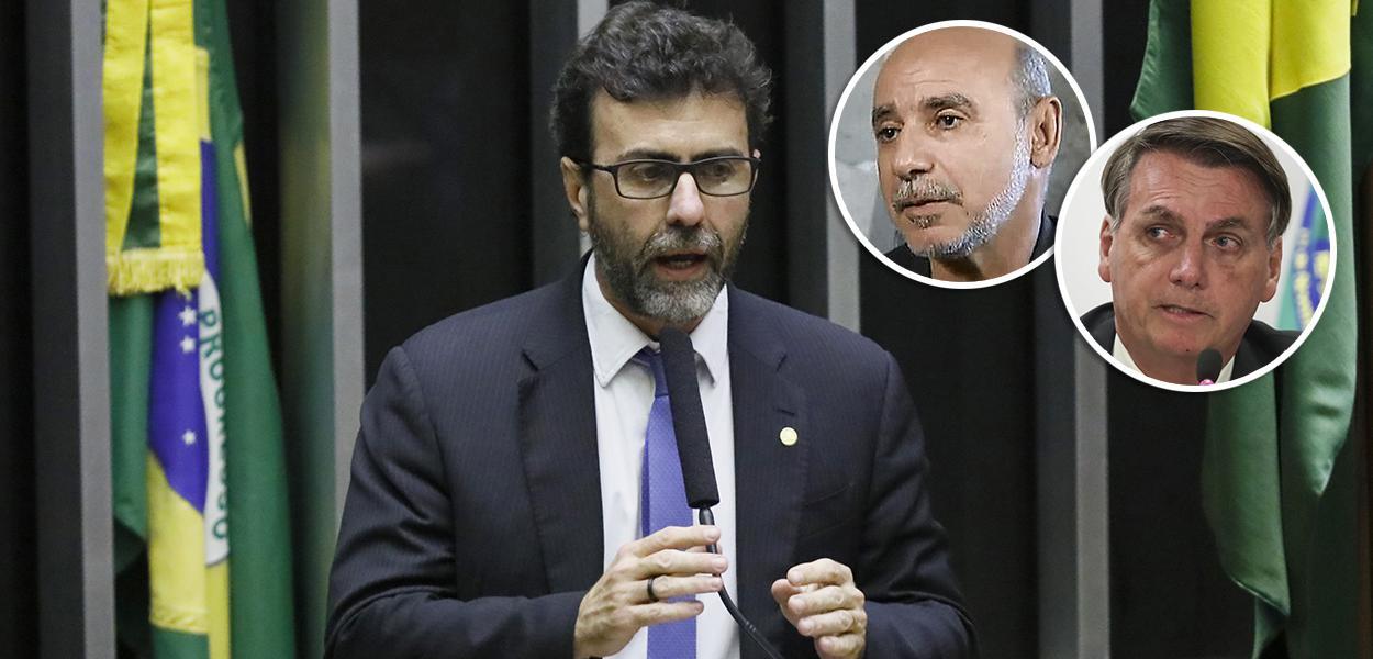 Deputado federal Marcelo Freixo, Jair Bolsonaro e Fabrício Queiroz