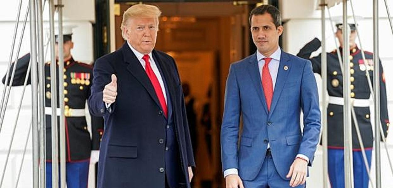 Donald Trump e Juan Guaidó