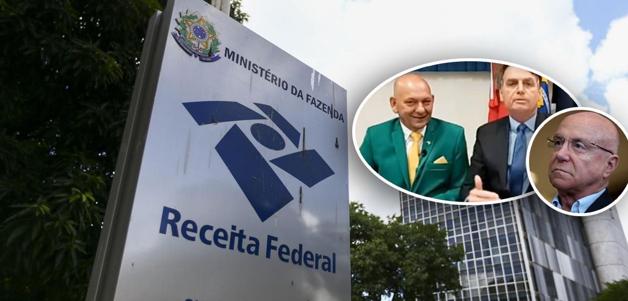 Superintendência da Receita Federal, em Brasília; Luciano Hang, Jair Bolsonaro e Salim Mattar