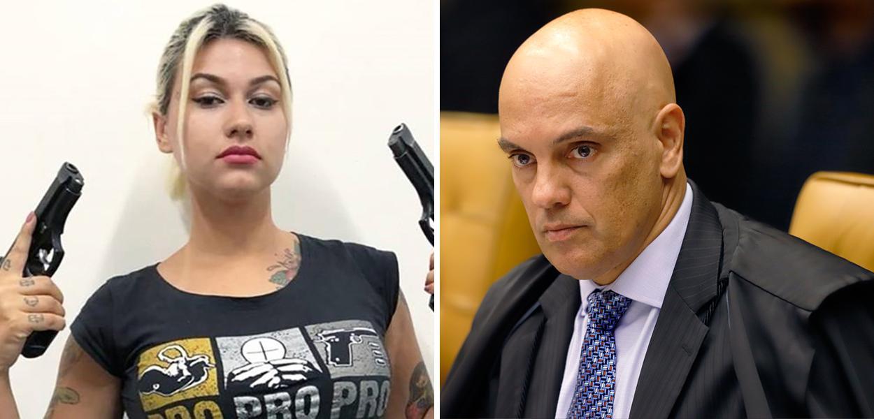 Sara Winter e Alexandre de Moraes