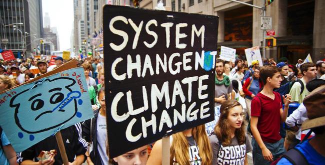 Mudança do sistema, e não mudança do clima
