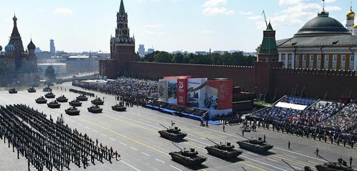 Parada da Vitória na Praça Vermelha em Moscou, 24 de junho de 2020