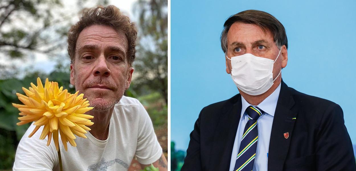 Nando Reis e Jair Bolsonaro