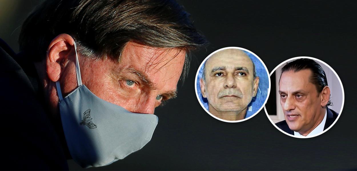 Jair Bolsonaro, Fabrício Queiroz e Frederick Wassef