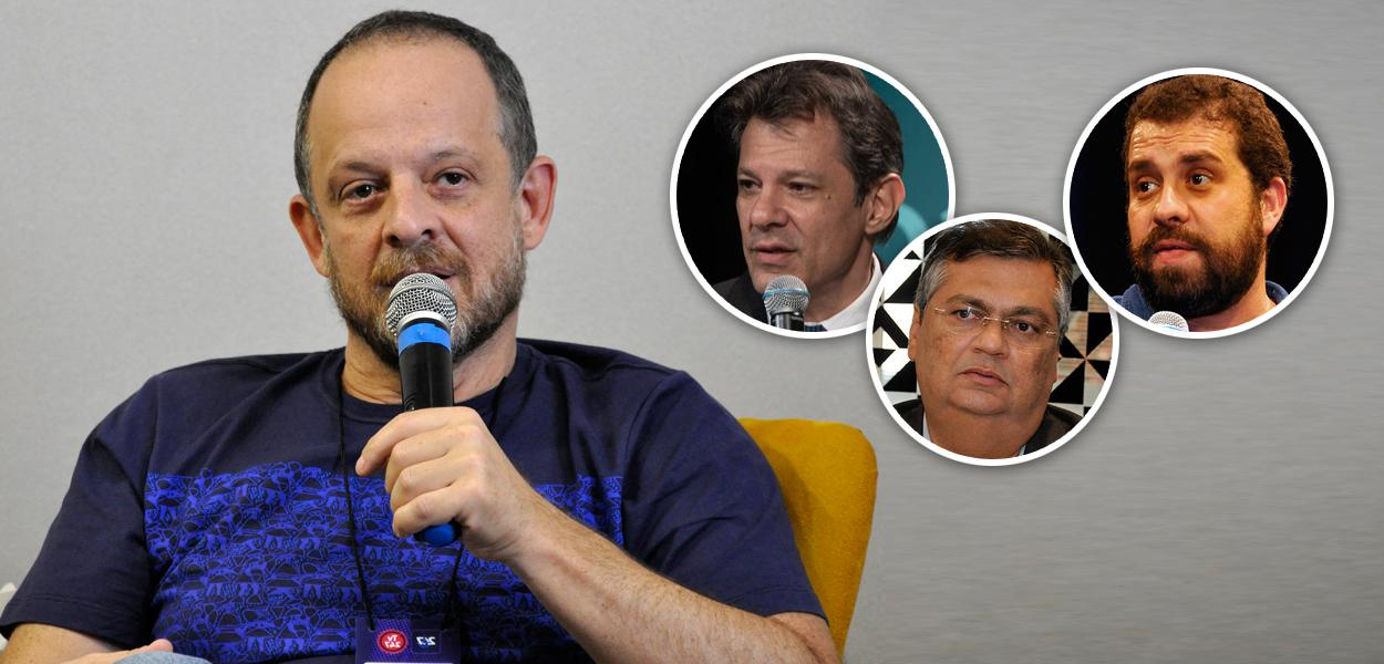 Breno Altman, Fernando Haddad, Flávio Dino e Guilherme Boulos