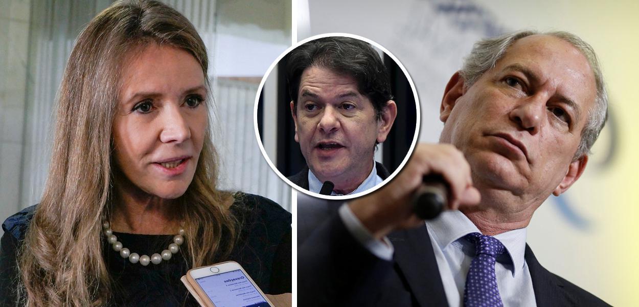 Vanessa Grazziotin, Cid Gomes e Ciro Gomes