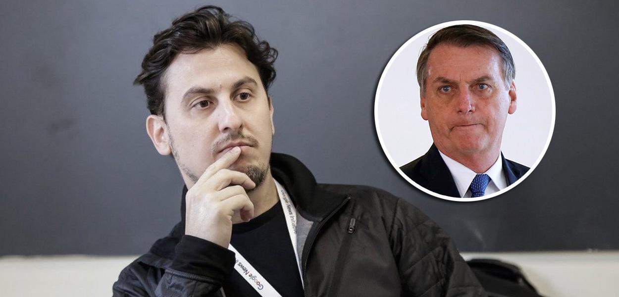 Leandro Demori e Jair Bolsonaro