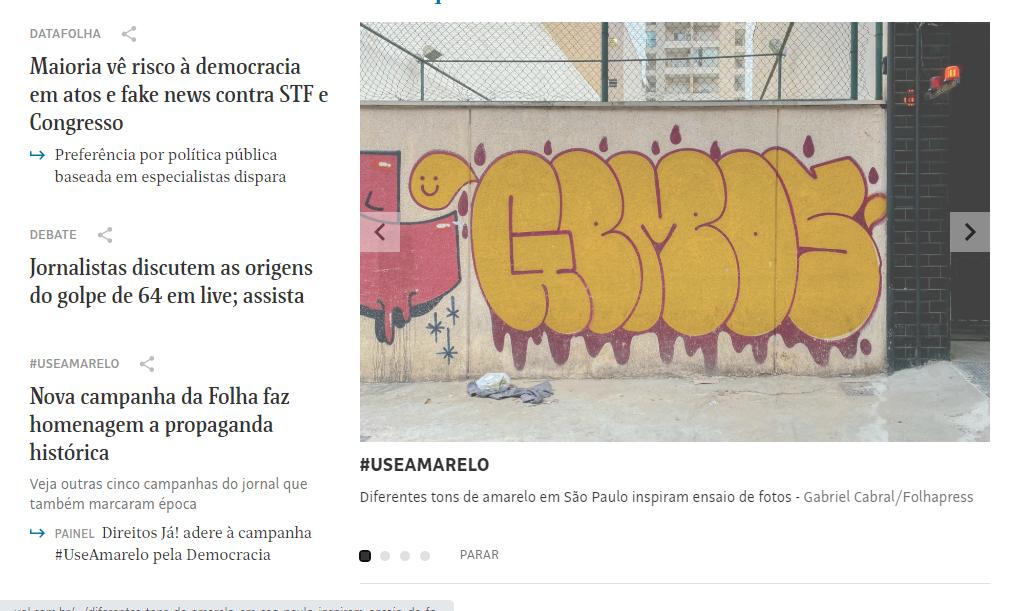 Capa Folha de S. Paulo - 29.06.2020